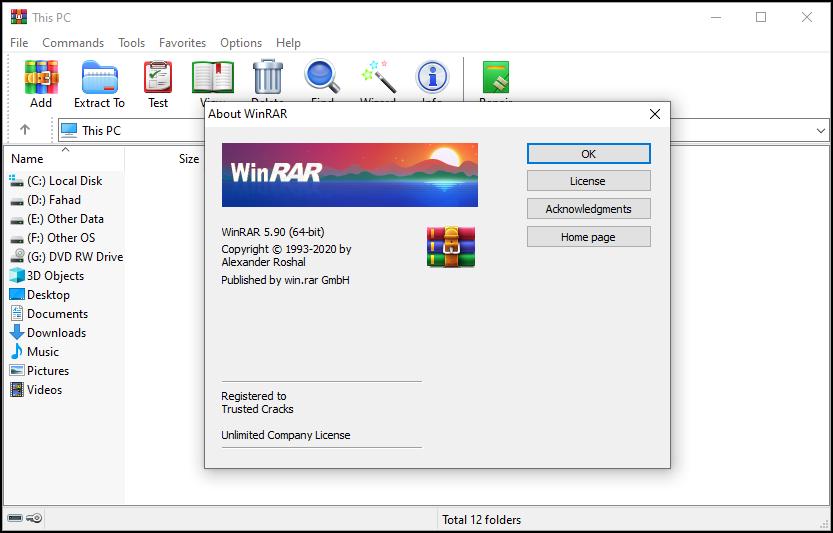 WinRAR 5.90 Crack1